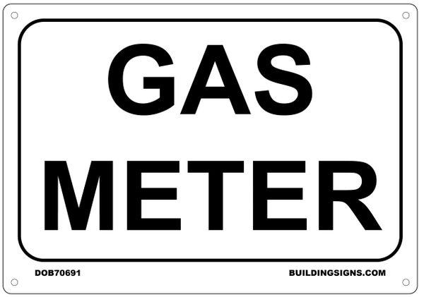 GAS METER SIGN