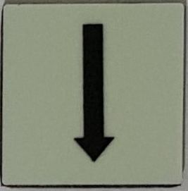 PHOTOLUMINESCENT DOWN ARROW SIGN The Liberty Line (Aluminum SIGNS 1x1, 3 RCNY §505-01)