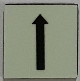 PHOTOLUMINESCENT UP ARROW SIGN The Liberty Line (Aluminum SIGNS 1x1, 3 RCNY §505-01)