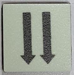 PHOTOLUMINESCENT 2 DOWN ARROWS SIGN The Liberty Line (Aluminum SIGNS 1x1, 3 RCNY §505-01)