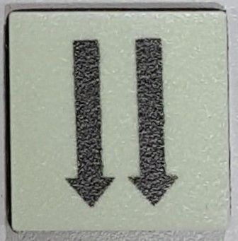 PHOTOLUMINESCENT 2 DOWN ARROWS SIGN The Liberty Line (Aluminum SIGNS 1x1, 3 RCNY §505-01)