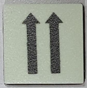 PHOTOLUMINESCENT 2 UP ARROWS SIGN The Liberty Line (Aluminum SIGNS 1x1, 3 RCNY §505-01)