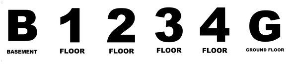 Floor Signs Set ( HPD Required Signs -HMC § 27-2049)