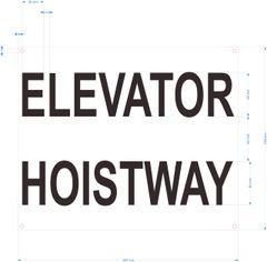 ELEVATOR HOISTWAY SIGN- WHITE BACKGROUND (ALUMINUM SIGNS 10X12)