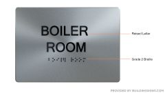 BOILER ROOM ADA Sign - The sensation line