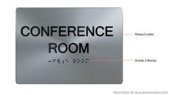 CONFERENCE ROOM Sign ADA Sign - The sensation line