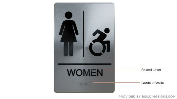WOMEN ACCESSIBLE RESTROOM Sign ADA SIGN - The sensation line