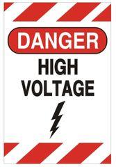 DANGER HIGH VOLTAGE SIGN (ALUMINUM SIGNS 6X4)
