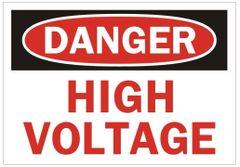 DANGER HIGH VOLTAGE SIGN (ALUMINUM SIGNS 3.5X5)