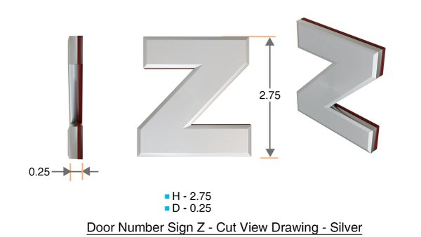 z- APARTMENT, DOOR AND MAILBOX LETTER Z SIGN - LETTER SIGN Z- BLACK (HIGH QUALITY PLASTIC DOOR SIGNS 0.25 THICK)