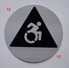 ACCESSIBLE SYMBOL SIGN (12 Inch DIAMETER) - SILVER