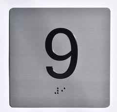 ELEVATOR JAMB- 9 - SILVER (ALUMINUM SIGNS 4X4)