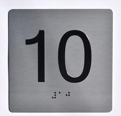 ELEVATOR JAMB- 10 - SILVER (ALUMINUM SIGNS 4X4)