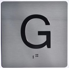 ELEVATOR JAMB- G - SILVER (ALUMINUM SIGNS 4X4)