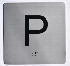 ELEVATOR JAMB- P - SILVER (ALUMINUM SIGNS 4X4)