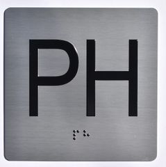ELEVATOR JAMB- PH - SILVER (ALUMINUM SIGNS 4X4)