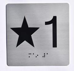 ELEVATOR JAMB- STAR 1 - SILVER (ALUMINUM SIGNS 4X4)