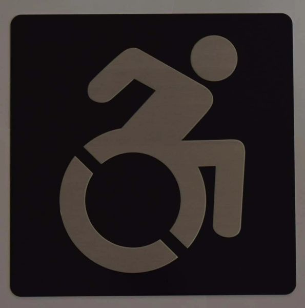 ACCESSIBLE SYMBOL SIGN - BLACK