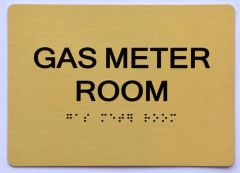 GAS METER ROOM SIGN- GOLD