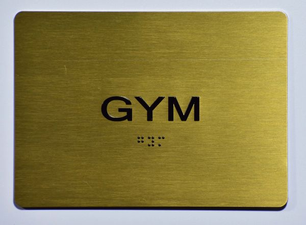 GYM Sign - GOLD