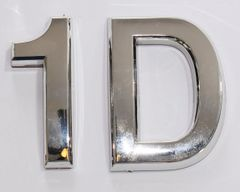 z- APARTMENT, DOOR AND MAILBOX LETTER 1D SIGN - LETTER SIGN 1 D- SILVER (HIGH QUALITY PLASTIC DOOR SIGNS 0.25 THICK)