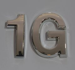 z- APARTMENT, DOOR AND MAILBOX LETTER 1G SIGN - LETTER SIGN 1 G- SILVER (HIGH QUALITY PLASTIC DOOR SIGNS 0.25 THICK)