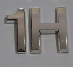 z- APARTMENT, DOOR AND MAILBOX LETTER 1H SIGN - LETTER SIGN 1 H- SILVER (HIGH QUALITY PLASTIC DOOR SIGNS 0.25 THICK)