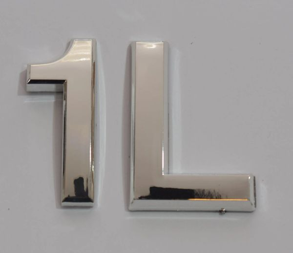 z- APARTMENT, DOOR AND MAILBOX LETTER 1L SIGN - LETTER SIGN 1 L- SILVER (HIGH QUALITY PLASTIC DOOR SIGNS 0.25 THICK)