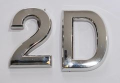 z- APARTMENT, DOOR AND MAILBOX LETTER 2D SIGN - LETTER SIGN 2 D- SILVER (HIGH QUALITY PLASTIC DOOR SIGNS 0.25 THICK)