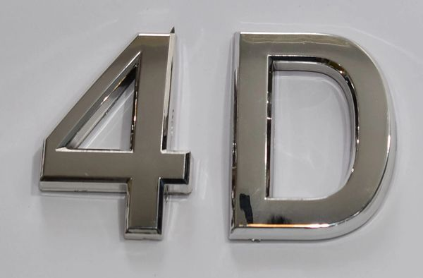 z- APARTMENT, DOOR AND MAILBOX LETTER 4D SIGN - LETTER SIGN 4 D- SILVER (HIGH QUALITY PLASTIC DOOR SIGNS 0.25 THICK)