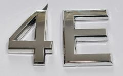 z- APARTMENT, DOOR AND MAILBOX LETTER 4E SIGN - LETTER SIGN 4 E- SILVER (HIGH QUALITY PLASTIC DOOR SIGNS 0.25 THICK)