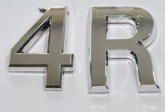 z- APARTMENT, DOOR AND MAILBOX LETTER 4R SIGN - LETTER SIGN 4 R- SILVER (HIGH QUALITY PLASTIC DOOR SIGNS 0.25 THICK)