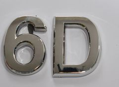 z- APARTMENT, DOOR AND MAILBOX LETTER 6D SIGN - LETTER SIGN 6 D- SILVER (HIGH QUALITY PLASTIC DOOR SIGNS 0.25 THICK)