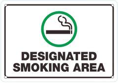 DESIGNATED SMOKING AREA SIGN (ALUMINUM SIGNS 7X10)