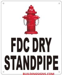 FDC DRY STANDPIPE SIGN (ALUMINUM SIGNS 12X10)