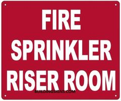FIRE SPRINKLER RISER ROOM SIGN (ALUMINUM SIGNS 10X12)
