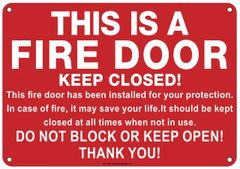 FIRE DOOR SIGN (ALUMINUM SIGNS 7X10)