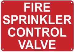 FIRE SPRINKLER CONTROL VALVE SIGN (ALUMINUM SIGNS 2X7)