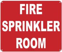 FIRE SPRINKLER ROOM SIGN (ALUMINUM SIGNS 10X12)