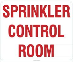 SPRINKLER CONTROL ROOM SIGN (ALUMINUM SIGNS 10X12)