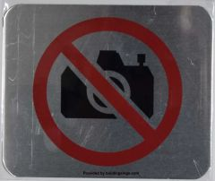 NO PICTURES SIGN (ALUMINUM SIGNS 5X6)