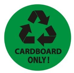 CARDBOARD ONLY SIGN (STICKER, CIRCLE 4X4)