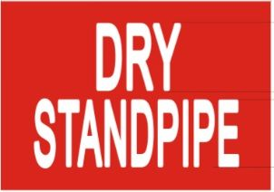DRY STANDPIPE SIGN (STICKER 7X10)