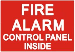 FIRE ALARM CONTROL PANEL INSIDE SIGN (STICKER 7X10)
