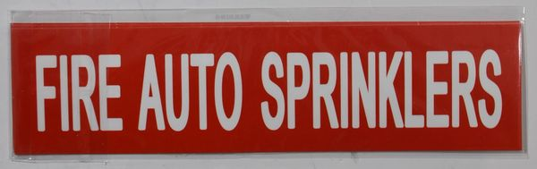 Set of 5 PCS- FIRE AUTO SPRINKLERS SIGN (STICKER 2X8)