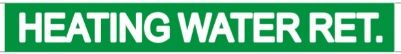 Set of 5 PCS- HEATING WATER RET. SIGN (STICKER 1X8)