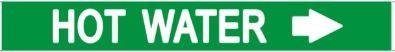 Set of 5 PCS- HOT WATER SIGN (STICKER 1X8)