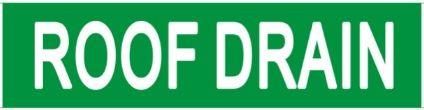 Set of 5 PCS- ROOF DRAIN SIGN (STICKER 2X8)