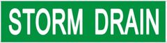 Set of 5 PCS- STORM DRAIN SIGN (STICKER 2X8)