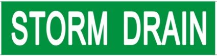 Set of 5 PCS- STORM DRAIN SIGN (STICKER 2X8)